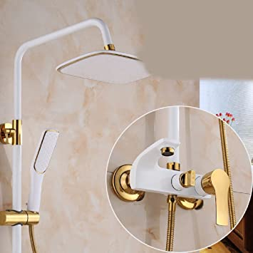 FACAIG Kupfer Dusche Dusche Set In Drei Dunkle Wandfarbe, Platin