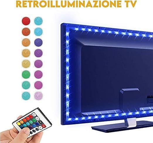 LED TV retroiluminación, de bonito 2 m tira LED RGB USB TV LED con ...
