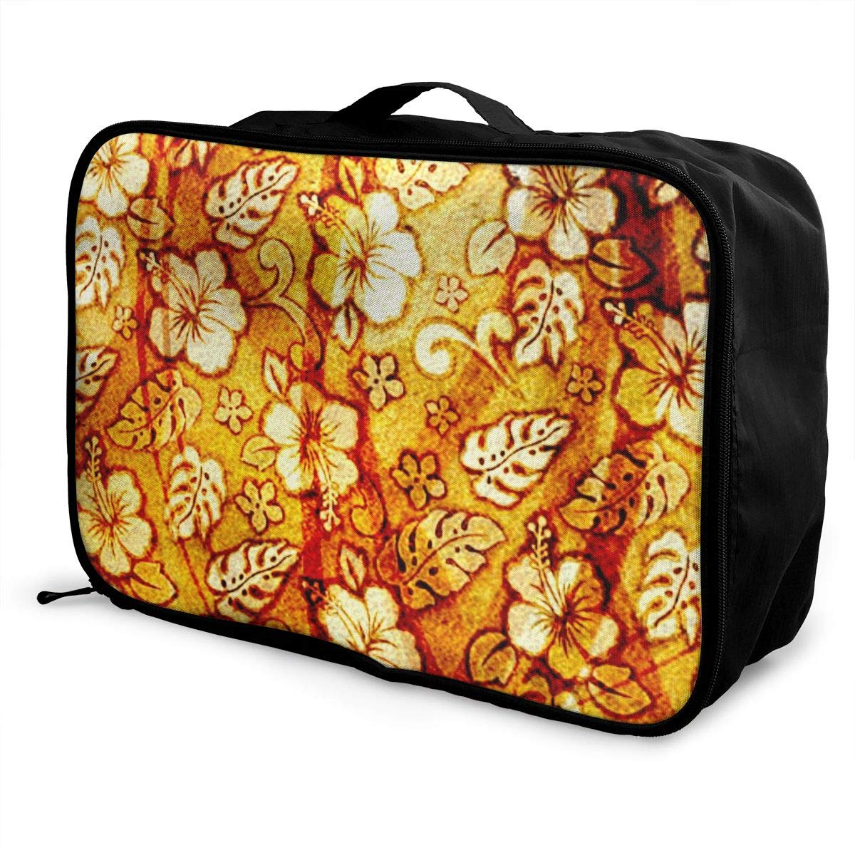 Abstract Art Flower Travel Lightweight Waterproof Foldable Storage Carry Luggage Large Capacity Portable Luggage Bag Duffel Bag