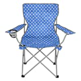 Folding Camping Festival Chair Polka Dot Portable Outdoor Seat With Bag