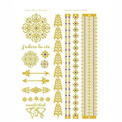 KEM] París Romance colección de oro de impresión tatuajes ...
