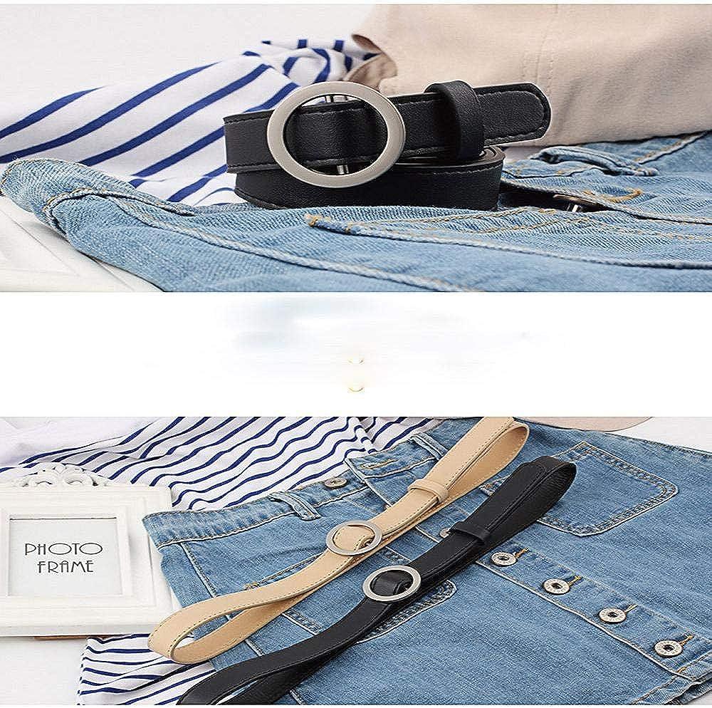 Firally Hot sale Cintura Donna Fibbia Tonda Senza Fibbia 105CM Stile Casual Dimensioni Regolabili Elastica Cintura in Pelle