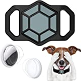 Wustentre Protective Case Compatible for Apple AirTags for Dog Cat Collar Pet Loop Holder, AirTag Holder Accessories with Scr