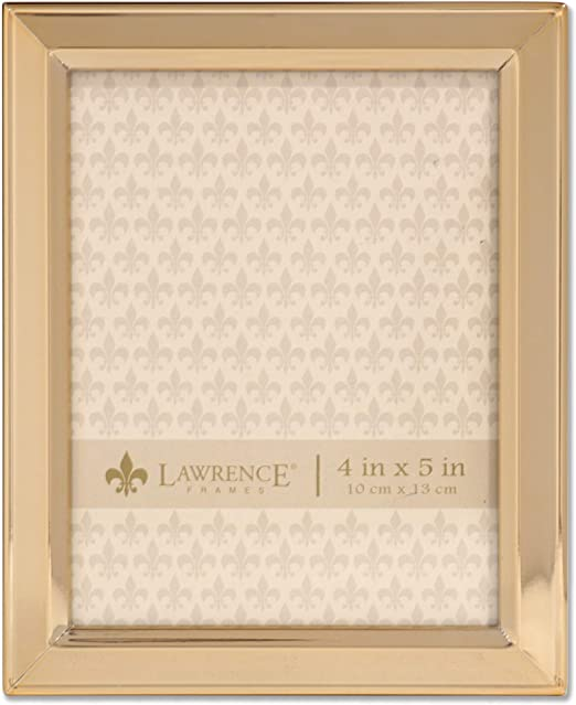 amazon com lawrence frames 4x5 gold metal classic bevel picture frame home kitchen lawrence frames 4x5 gold metal classic