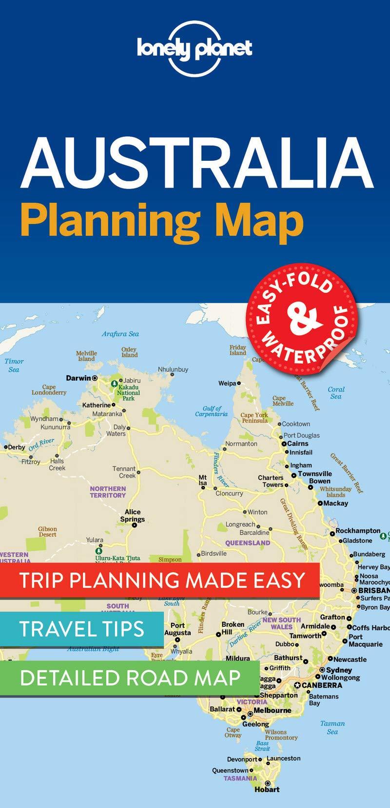 Map Of Australia Cape York Peninsula.Lonely Planet Australia Planning Map Lonely Planet 9781786579089