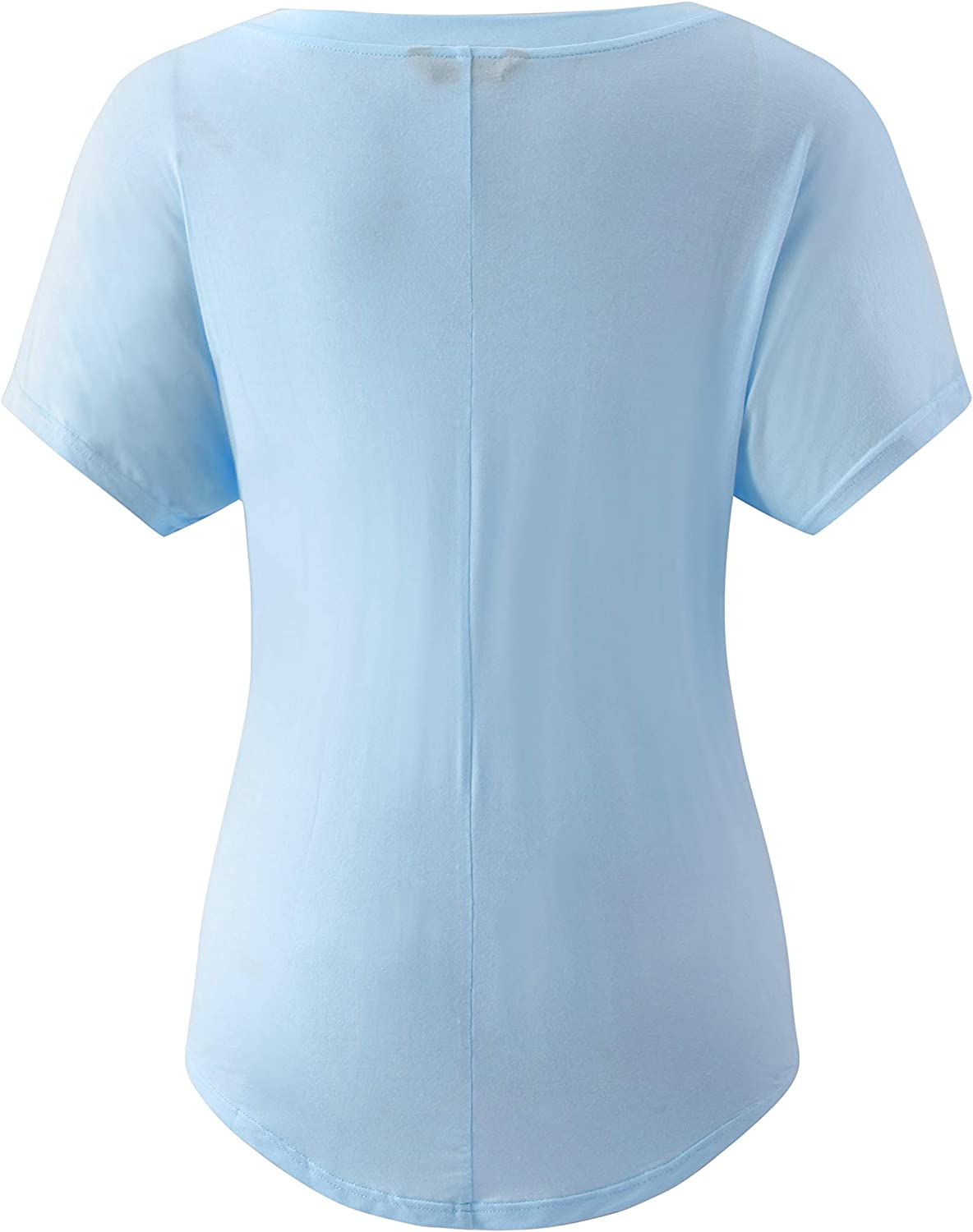 KLOTHO Casual V Neck Dolman Base Layer Shirt Loose Active Yoga Tops with Front Pockets for Women