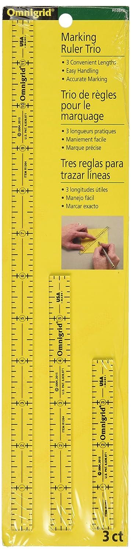 Dritz R1264S Omnigrid 4-6-12-Inch Marking Ruler Trio