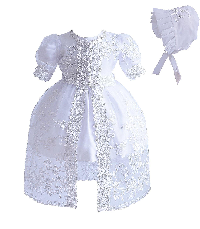 Cinda Sombrero y Vestido de Bautizo bebé niña Encaje: Amazon ...