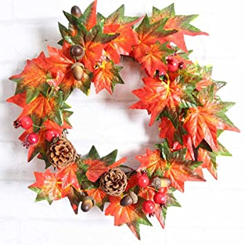 Amazon.com: CYCTECH Thanksgiving Day DIY Decoration Pine Fruit Maple ...