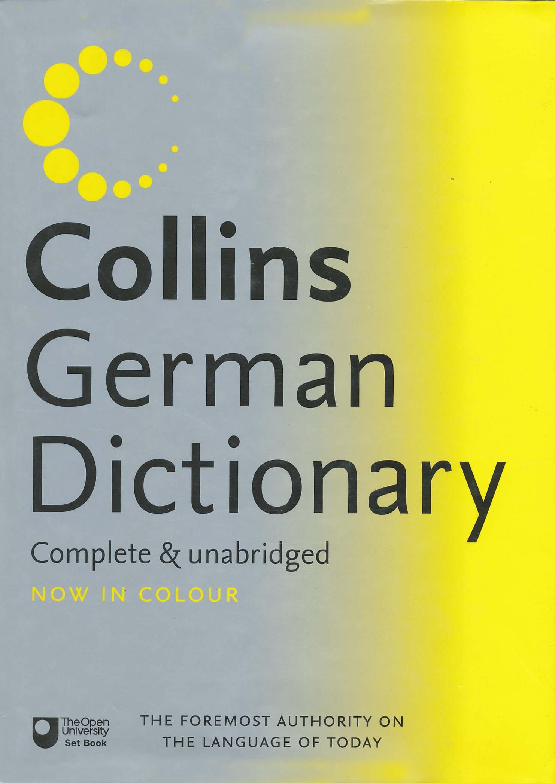 Collins German Dictionary. Complete & unabridged