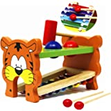 Tacobear Wooden Baby Developmental Pound Tap Xylophone Musical Toy for Kids