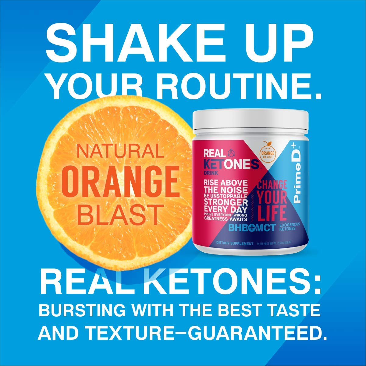 Real Ketones Prime D+ BHB (Beta-Hydroxybuterate) and MCT Exogenous Ketone Powder Supports Ketogenic Diet, Energy Boost, Mental Clarity (Orange Blast) (56 Serving) by KEGENIX (Image #8)