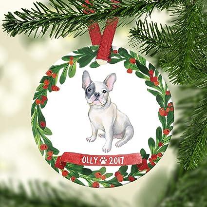 French Bulldog Christmas Ornament.Amazon Com French Bulldog Ornament French Bulldog Christmas