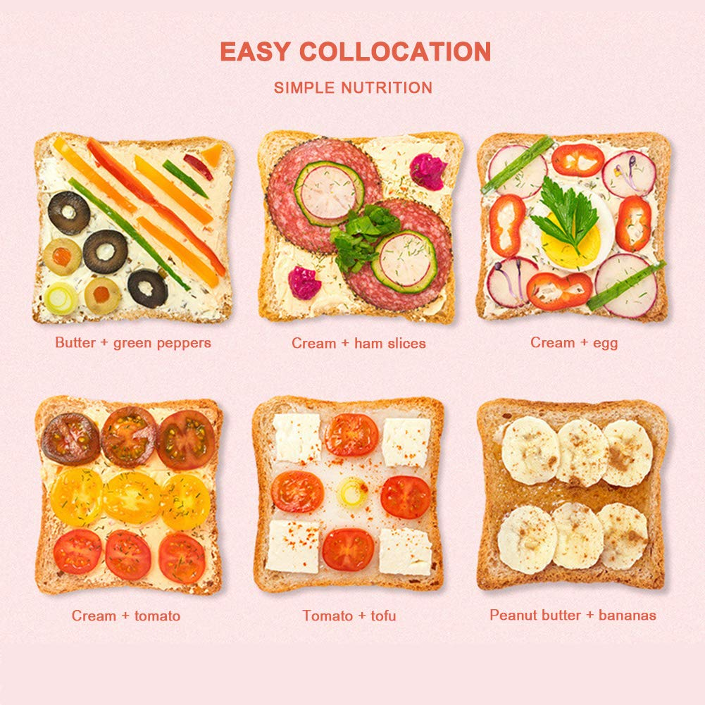 Gyswshh 2-slice Automatic Electric Toaster, Breakfast Maker,Household Bread Toast Machine Pink by Gyswshh (Image #5)