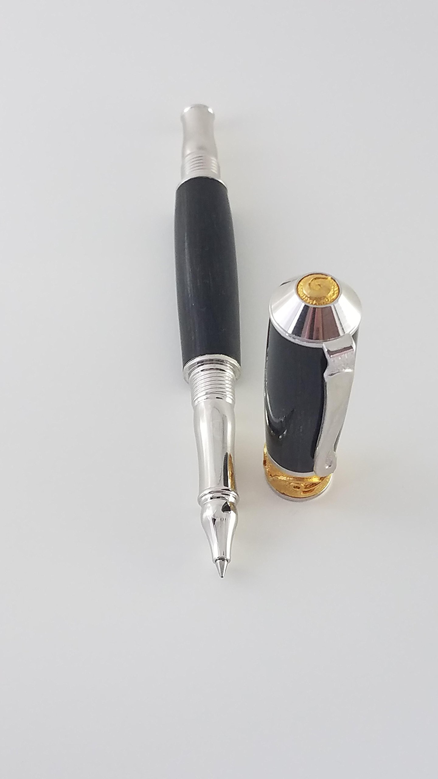 Broadwell Nouveau Sceptre Rhodium and 22kt Gold Rollerball Pen Kit