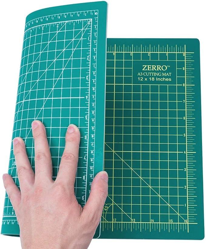 PQZATX A3 Tapis de d/écoupe double face auto-gu/érissant 5 couches m/étrique//imp/érial 45 cm x 30 cm R/ègle de matelassage adapt/ée pour cartes en papier et tissus 45 cm x 30 cm