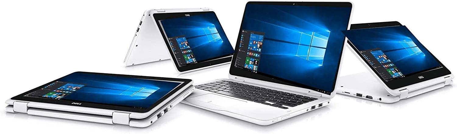 """2020 Newest DELL Inspiron 11 3195, 2 in 1, 7th Gen AMD A9-9420e W/ Radeon R5 Graphics, 4GB DDR4 2666MHz RAM, 64GB HD, 11.6"""" HD (1366 X 768) LED-Backlit Touch Display i3195PUS-White"""