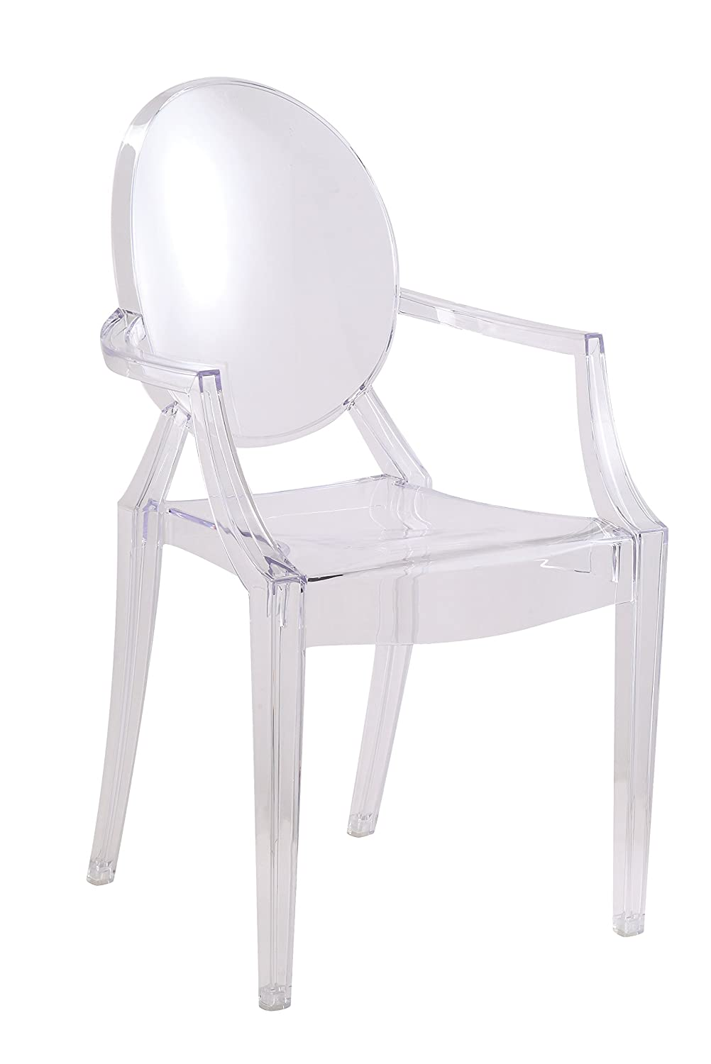 Amazoncom Designer Modern Clear Arm Chair Set of 2 Chairs