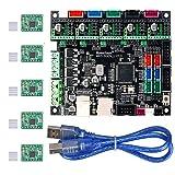 Aoicrie MKS Gen L V1.0 3D Printer Integrated Mainboard Controller PCB Board Compatible Ramps1.4/Mega2560 R3 with A4988 Motor Driver for 3D (Color: MKS Gen L V1.0 3D Printer)