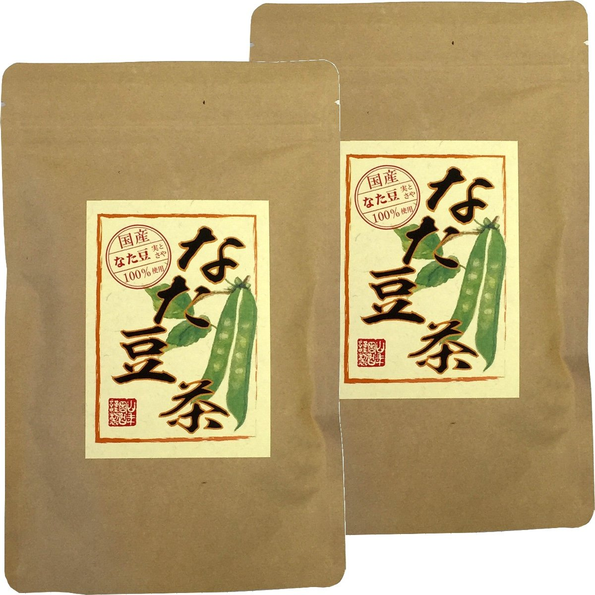 Japanese Tea Shop Yamaneen Sword Beans-Tea Without Agricultural Chemicals Non Caffeine Teabag 36G x 2packs by Japanese Tea Shop Yamaneen