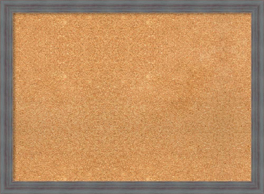 Amanti Art DSW3980597 Framed Cork Board Large-30 x 22'', Dixie Grey Rustic