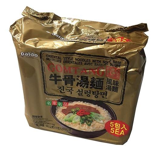 Amazon.com : Paldo Korean Ramen Family Pack (Gomtang) : Grocery & Gourmet Food