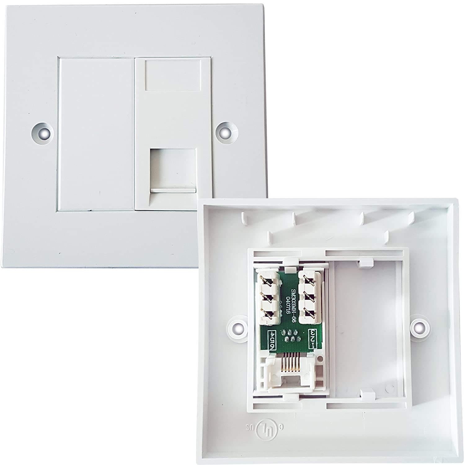 Rj11 Phone Socket Wall Face Plate Outlet Bt Router Modem Telephone Work In Addition Cat5e Keystone Jack Wiring Diagram As Extension Loops Computers Accessories
