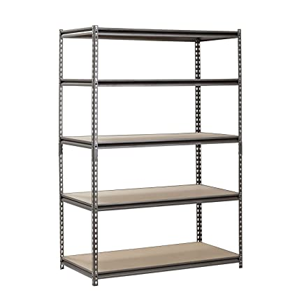 heavy duty garage shelf steel metal storage 5 level adjustable shelves unit 72 h x - Heavy Duty Storage Shelves