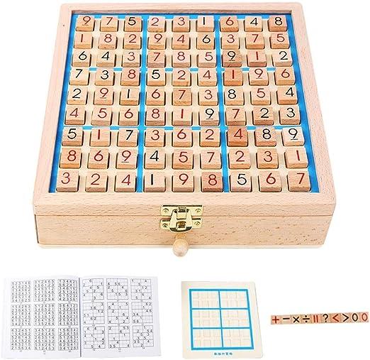 YUELAI Juguete De Juego De Sudoku,Juego De Rompecabezas Cuatro En ...