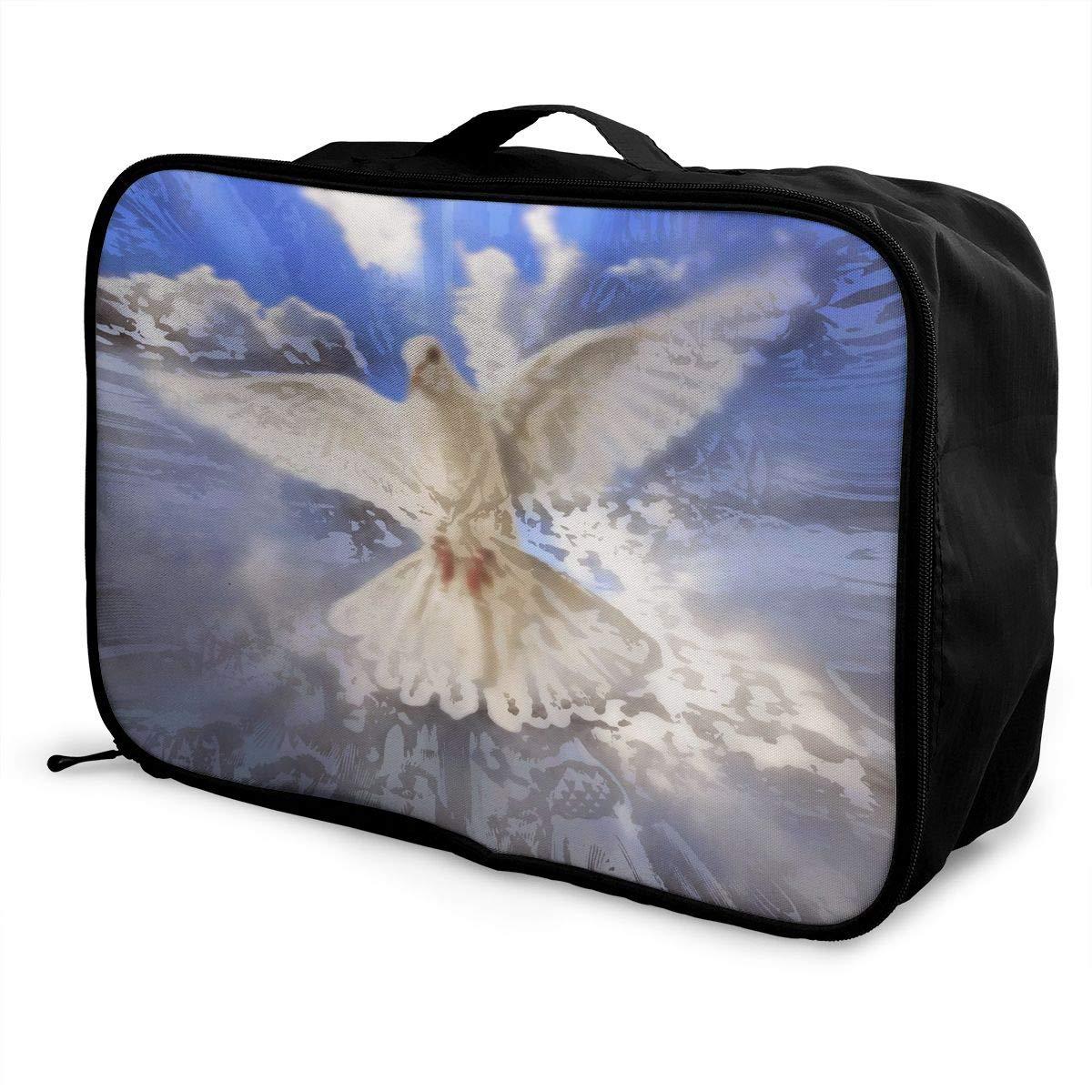 Travel Luggage Duffle Bag Lightweight Portable Handbag Dove Print Large Capacity Waterproof Foldable Storage Tote