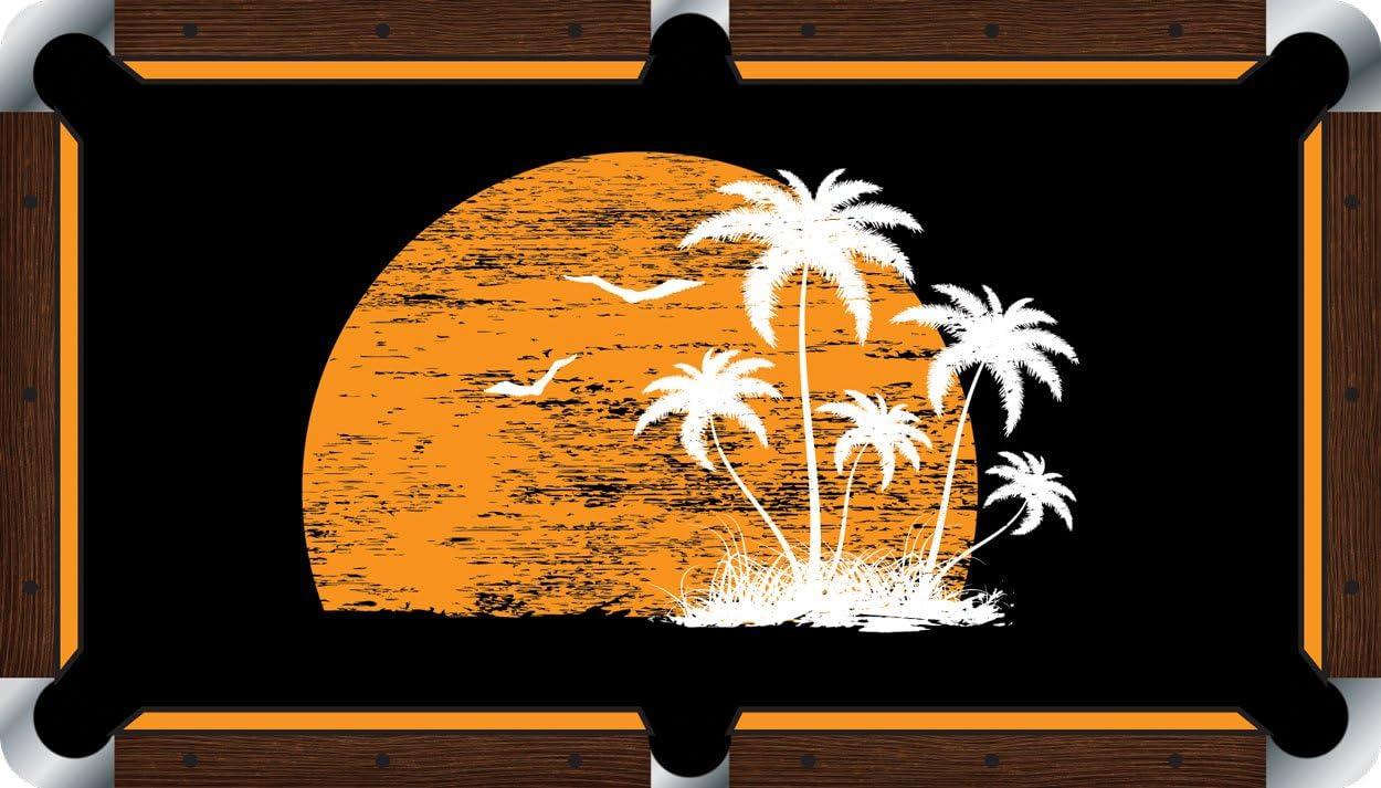 Mesa de billar sentía paño billar – Vivid diseño de puesta de sol, 9 foot: Amazon.es: Deportes y aire libre
