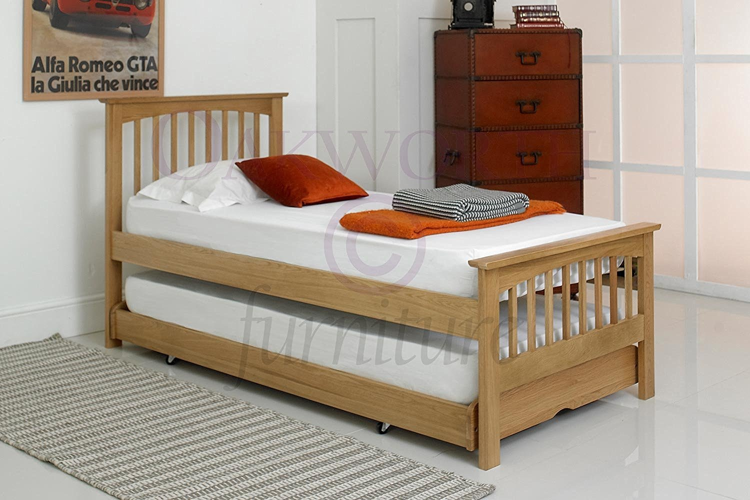 Hideaway Guest Bed Heywood Solid Oak Guestbed Single Guest Bed Frames Only