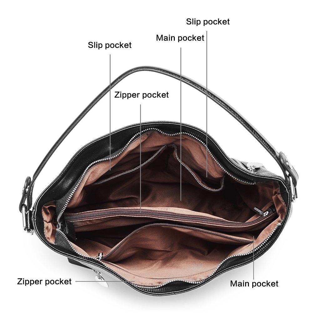 Amazon.com: BOSTANTEN - Bolso de mano de piel para mujer ...