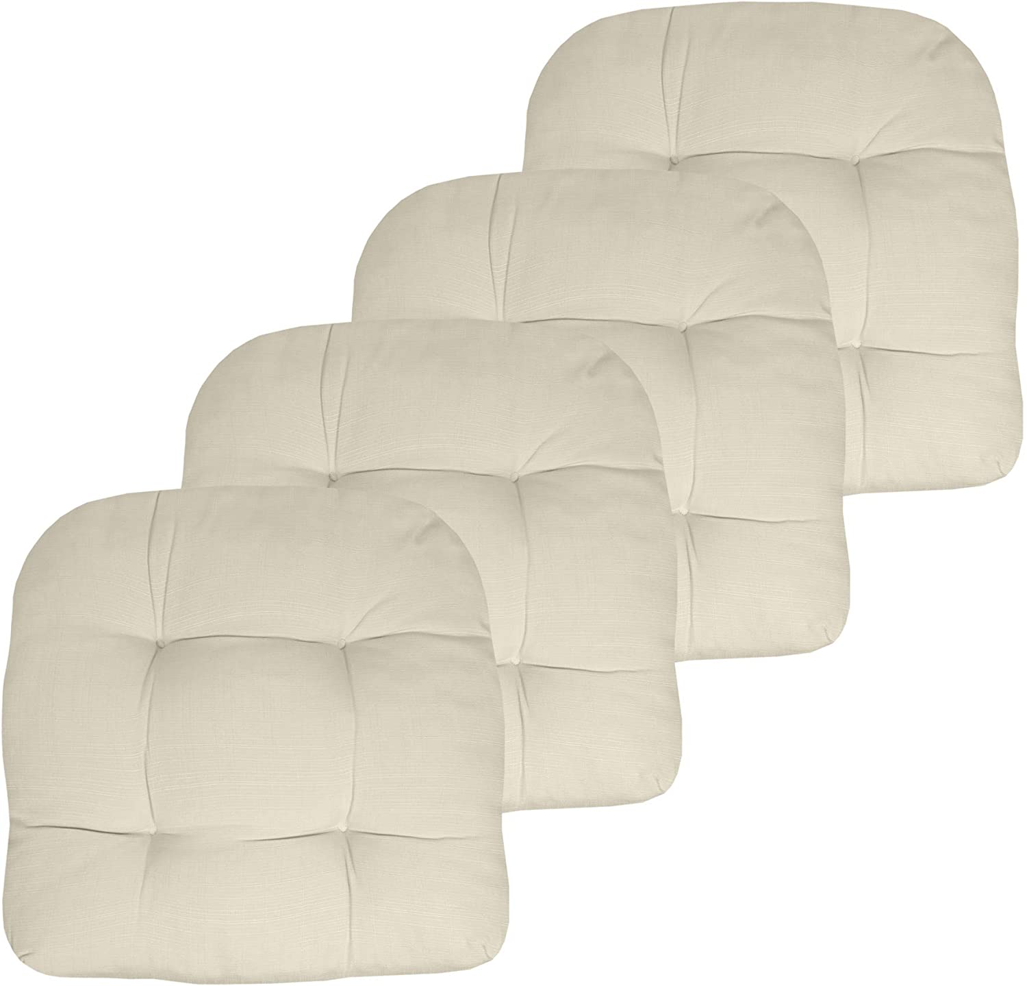 Sweet Home Collection Patio Cushions Outdoor Chair Pads Premium Comfortable Thick Fiber Fill Tufted 19