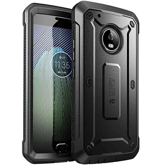 new concept ab8b6 eb1cc SUPCASE Full-Body Rugged Holster Case for Moto G5 Plus, with Built-in  Screen Protector for Moto G Plus (5th Generation) 2017 Release, Unicorn  Beetle ...