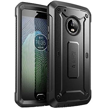 SUPCASE Carcasa para Motorola Moto G5 Plus (2017), Funda Completa Resistente, Serie Unicorn Beetle Pro con Protector de Pantalla Incorporado (Negro)