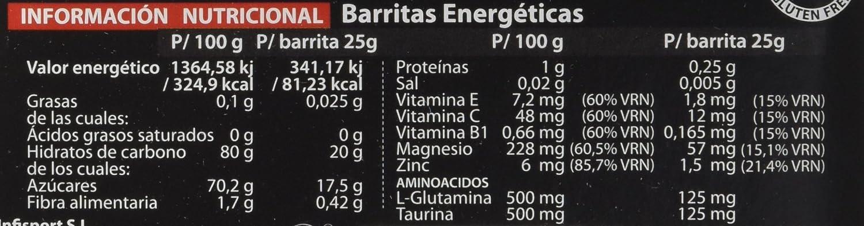 Infisport Faster Bar, Sabor Naranja y Limón - 28 Unidades: Amazon.es: Alimentación y bebidas