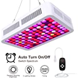 Lightimetunnel 600W Dimmable LED Grow Light Full Spectrum Plant Grow Lamp Led Hydroponic Lights with Timer Dimmable Veg&Bloom Channels for Grow Tent, Greenhouse, Hydroponic Plants Growth