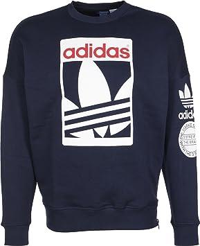 adidas Sweatshirt Street Graphic Crew Sudadera, Hombre, Azul Marino, M: Amazon.es: Deportes y aire libre