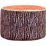 [スゴフィ]SGFY プチスツール オットマン チェア 足置き 椅子 台 果物 カラフル フルーツ 3Dプリント (切り株)