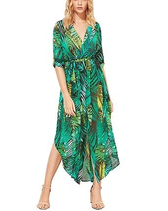 Cocktail Dresses Green Print