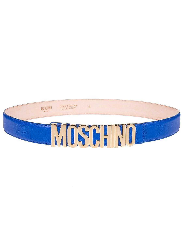 fd96ff0a4fe0 Moschino Femme A80078001299 Bleu Cuir Ceinture  Amazon.fr  Vêtements et  accessoires