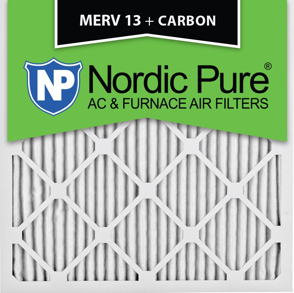 6 6 Pack Nordic Pure 18x18x1 MERV 13 Plus Carbon Pleated AC Furnace Air Filters 18x18x1M13+C
