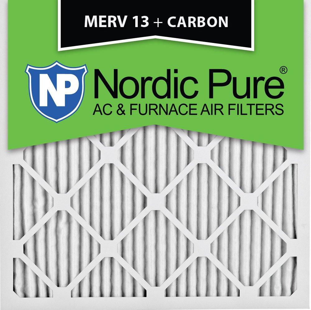 Nordic Pure 16x16x1M13+C-6 MERV 13 Plus Carbon AC Furnace Air Filters, Qty-6