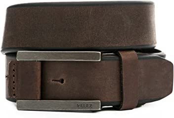 VELEZ Genuine Leather Belt For Men | Correa Cinturones Cuero De Hombre