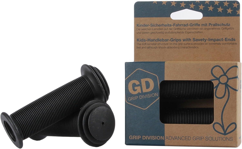 Puños para bicicleta para niños con protección de impacto de seguridad de GD Grip Division