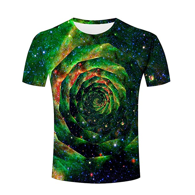 3eedf1076a52 Amazon.com  3D Shirts Men Galaxy Tie-Dye Funny All Over Print T ...