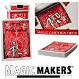 Magic Cartoon Deck Trick Bicycle Version from Magic Makers