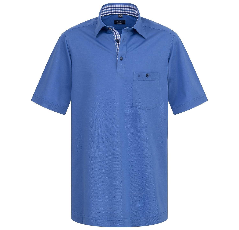 Eterna Herren Polo Shirt Kurzarmshirt Poloshirt Polohemd Hemd Kurzarm Comfort Fit Poloshirt Piqué Weiß