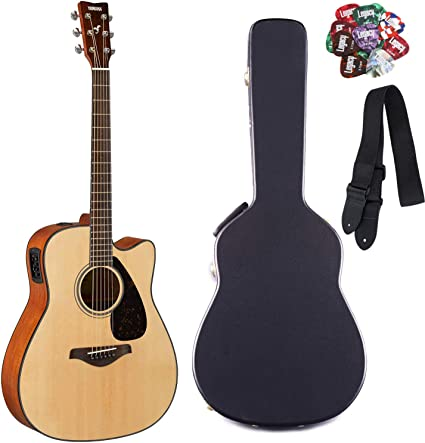 Yamaha fgx800 C Folk Guitarra Cutaway Guitarra Electroacústica ...